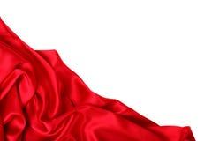 Glatte elegante rote Seide kann als Hintergrund verwenden Lizenzfreie Stockfotos