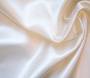 Glatte elegante weiße Seide als Hintergrund Stockfotos