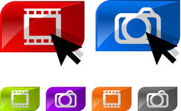 Glatte Fotovideotasten Lizenzfreie Stockfotografie