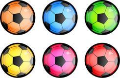 Glatte Fußball-Kugeln stock abbildung
