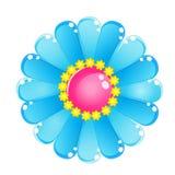 Glatte Geleeikone des Blumenfarbblauen Himmels Stockbilder