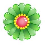 Glatte Geleeikone des Blumenfarbgrüns Lizenzfreies Stockbild