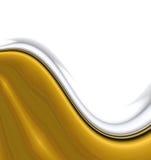 Glatte Goldwellen Lizenzfreies Stockbild