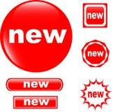 Glatte Ikone des NEUEN Tastenwebs Stockfotografie