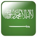 Glatte Ikone mit Flagge von Saudi-Arabien vektor abbildung