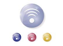 Glatte Ikonen 3d WiFis Stockfotos