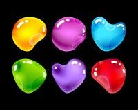 Glatte Juwelsteine für Spieldesign Stockbild