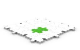 glatte Lösung des Puzzlespiel-3D Stockfoto