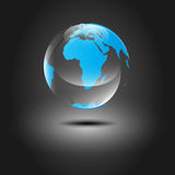 Glatte lichtdurchlässige Erde Stockbild