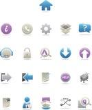 Glatte moderne Web-Ikonen Stockfoto