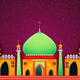 Glatte Moschee für islamische Festivalfeier Lizenzfreies Stockfoto