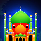 Glatte Moschee für islamische Festivalfeier Lizenzfreies Stockbild