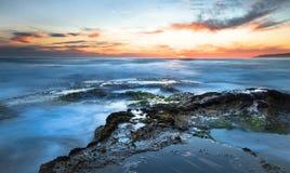 Glatte Ozean-Landschaft lizenzfreies stockfoto