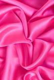 Glatte rosa Seide als Hintergrund Stockfoto