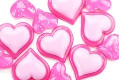 Glatte rosafarbene Innere auf einem weißen Hintergrund Lizenzfreie Stockfotografie
