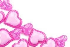 Glatte rosafarbene Innere auf einem weißen Hintergrund Stockbild