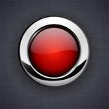 Glatte rote Taste 3d. Stockbilder