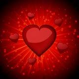 Glatte rote Valentinsgrußinnere Stockbild