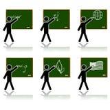 Glatte Schuleikonen lizenzfreie abbildung