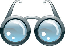 Glatte stilisiert Gläser Stockbild