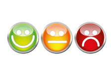 Glatte Stimmung Emoticons stock abbildung