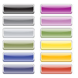 Glatte Tasten der Farbe für das Web Lizenzfreie Stockfotos