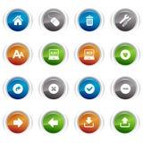 Glatte Tasten - klassische Web-Ikonen Lizenzfreie Stockbilder