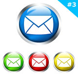 Glatte Tasten mit eMail-Zeichen Stockbilder