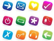 Glatte Web-Ikonen Stockbild