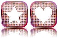 Glatte Web-Taste mit Lieblingsikone. Stockfotografie