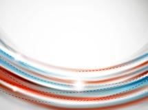 Glatte Welle, coporate Geschäftsbroschüren-Identitätsdesign Stockfotos