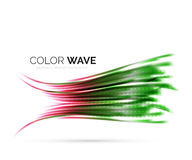 Glatte Welle lokalisiert auf weißem Hintergrund Lizenzfreies Stockfoto