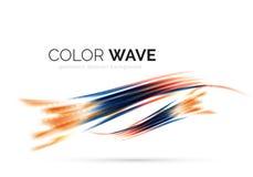 Glatte Welle lokalisiert auf weißem Hintergrund Stockfoto