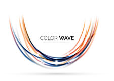 Glatte Welle lokalisiert auf weißem Hintergrund Stockbild