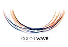 Glatte Welle lokalisiert auf weißem Hintergrund Stockfotografie