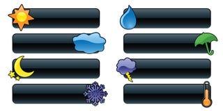 Glatte Wetter-Fahnen Stockbild