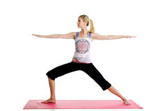 Glatte Yoga-Haltung Stockfotografie