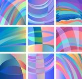 Glatter abstrakter Designsatz des Hintergrundes Stockfoto