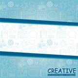 Glatter blauer kreativer Hintergrund Lizenzfreie Stockbilder