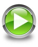 Glatter grüner runder Knopf der Spielikone Lizenzfreies Stockfoto