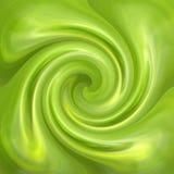 Glatter Hintergrund des abstrakten grünen Strudels Stockbilder
