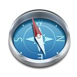 Glatter Kompass mit windrose Stockfotos