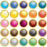25 glatter Mesh Glass Button Lizenzfreie Stockfotografie