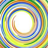 Glatter Regenbogen des abstrakten Strudels färbt Vektorbackgr Lizenzfreies Stockbild
