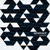 Glatter schwarzer geometrischer Hintergrund Stock Abbildung
