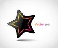 Glatter vektorstern Stockfotografie