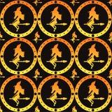 Glattes Halloween-Hexemuster lizenzfreie abbildung