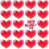 Glattes Herzmuster des glücklichen Valentinstags Stockbild