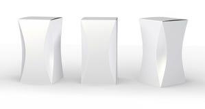 Glattes Paket des weißen Kastens mit Kurve, Beschneidungspfad eingeschlossen lizenzfreie abbildung