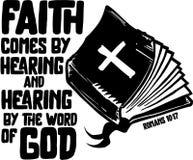 Glaube durch das Hören vektor abbildung